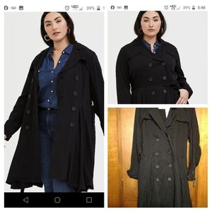 Torrid twill fit and flare jacket